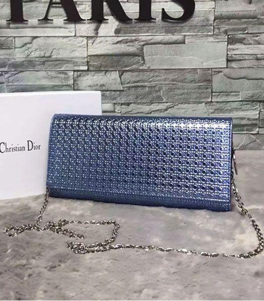 Christian Dior Pearl Blue Leather Chains Small Bag