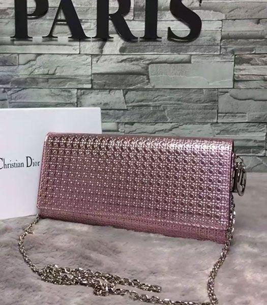 Christian Dior Pearl Pink Leather Chains Small Bag