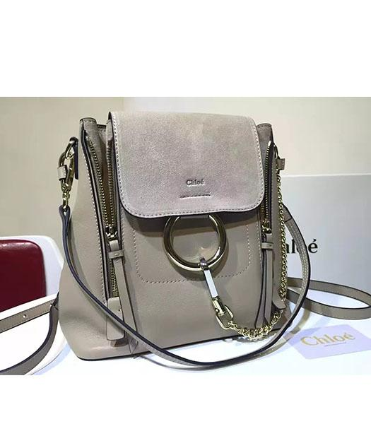 Chloe Latest Grey Suede Leather 28cm Backpack