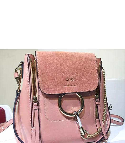 Chloe Latest Pink Suede Leather 28cm Backpack