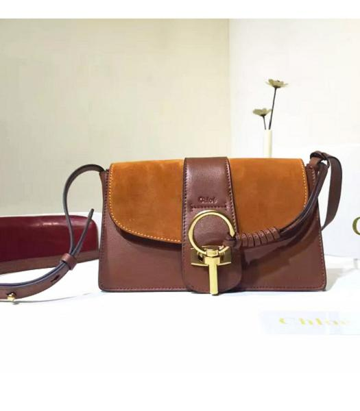 Chloe Lexa Brown Leather Keys Casusal Shoulder Bag