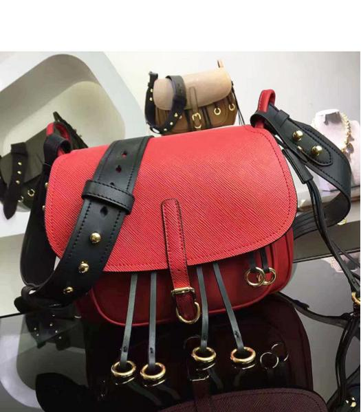 Prada Cross Veins Red Leather Shoulder Bag