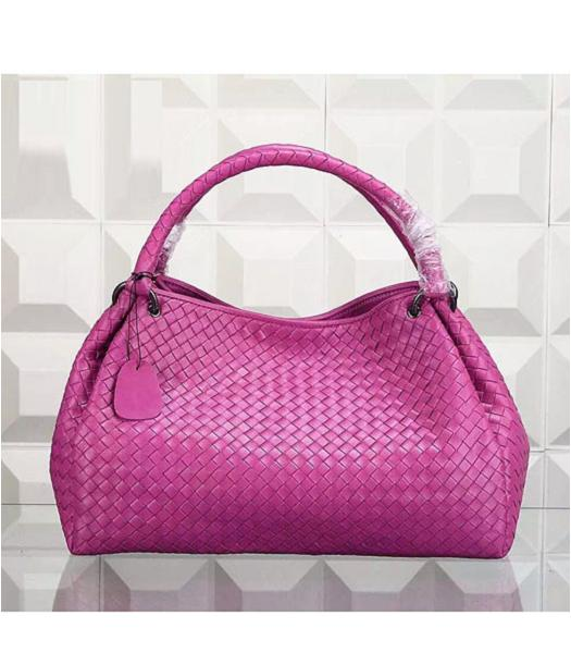 Bottega Veneta Woven Handle Bag Peach Red
