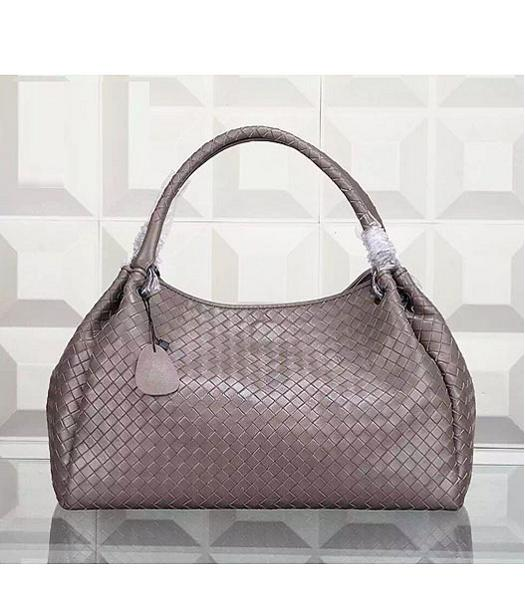 Bottega Veneta Woven Handle Bag Grey
