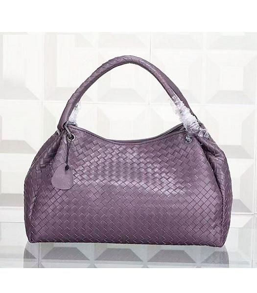 Bottega Veneta Woven Handle Bag Light Purple