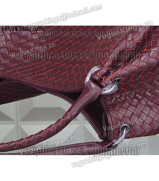 Bottega Veneta Woven Handle Bag Jujube Red-2