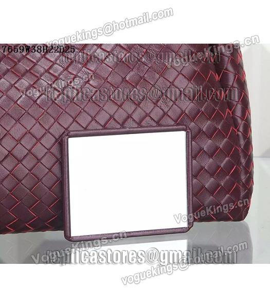 Bottega Veneta Woven Handle Bag Jujube Red-3