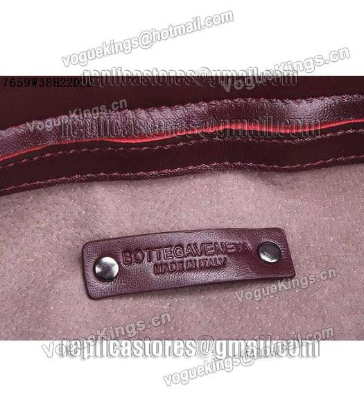 Bottega Veneta Woven Handle Bag Jujube Red-6