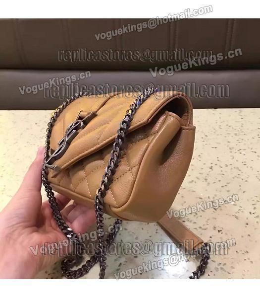 YSL Envelop Satchel Beige Leather Quilted Chains Mini Bag-1