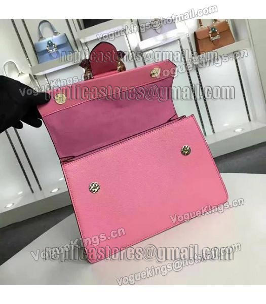 Miu Miu Cherry Pink Leather Colorful Diamonds 28cm Tote Bag-6