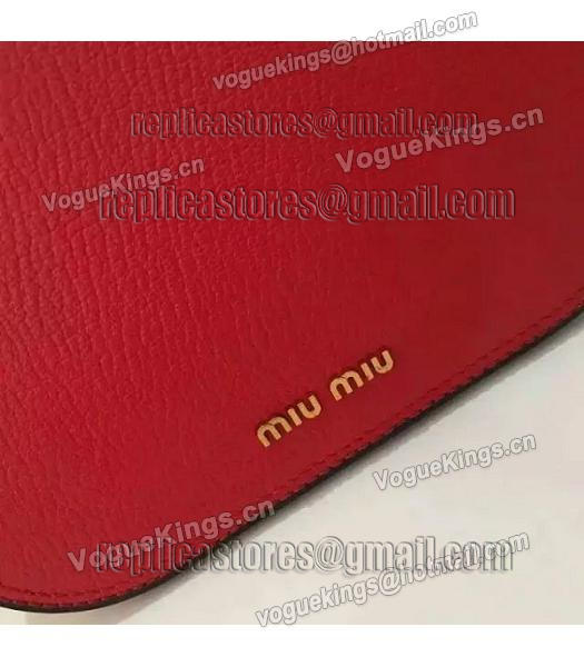 Miu Miu Red Original Leather 19cm Small Bag-2