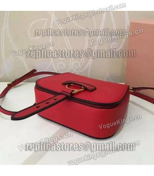 Miu Miu Red Original Leather 19cm Small Bag-3