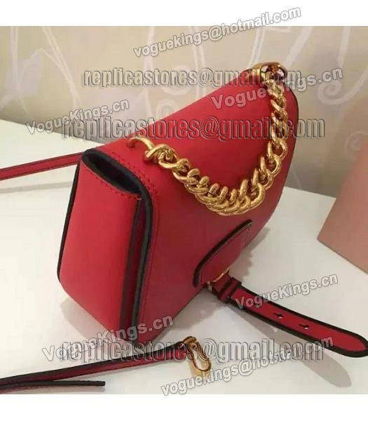 Miu Miu Red Original Leather 19cm Small Bag-5