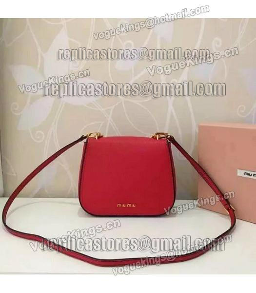 Miu Miu Red Original Leather 19cm Small Bag-6