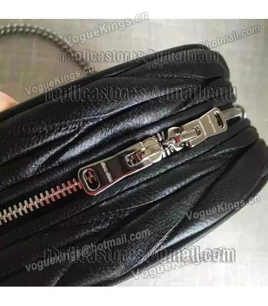 Miu Miu Matelasse Black Original Leather Small Chains Bag-2