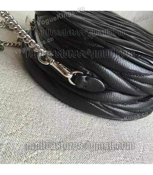 Miu Miu Matelasse Black Original Leather Small Chains Bag-3