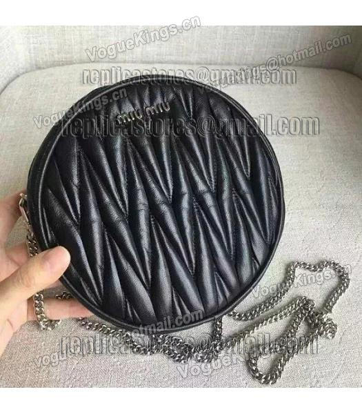 Miu Miu Matelasse Black Original Leather Small Chains Bag-4