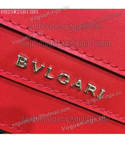 Bvlgari Red Original Leather 25cm Chains Bag-6