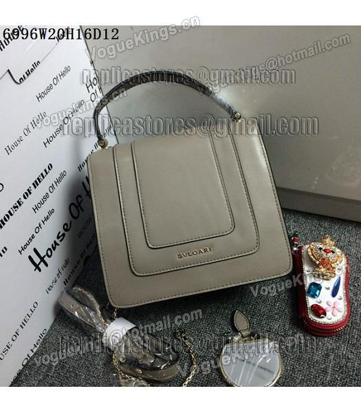 Bvlgari Grey Original Leather 20cm Chains Small Bag-3