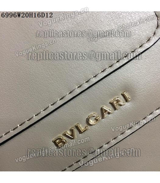Bvlgari Grey Original Leather 20cm Chains Small Bag-5