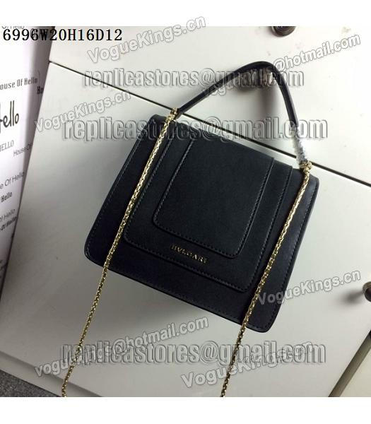 Bvlgari Black Original Leather 20cm Chains Small Bag-4