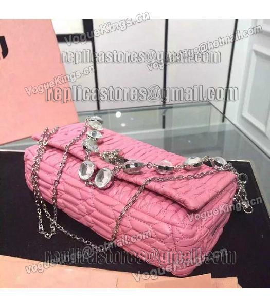 Miu Miu Matelasse Original Leather Diamonds Small Bag Pink-1