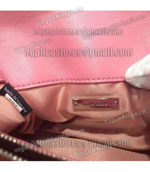 Miu Miu Matelasse Original Leather Diamonds Small Bag Pink-5