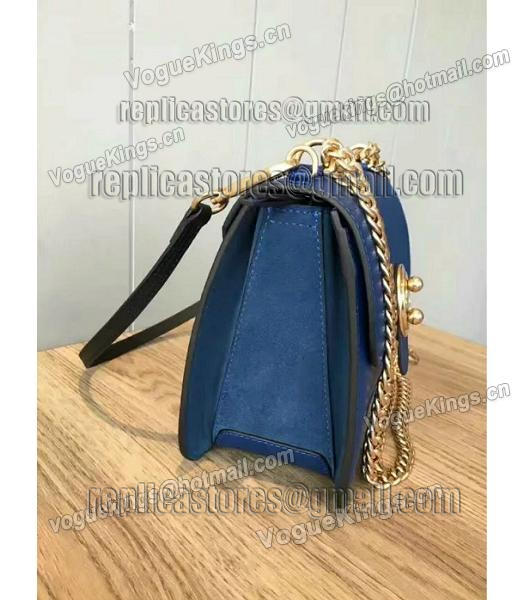 Chloe Lexa Original Blue Leather Chains Bag-1