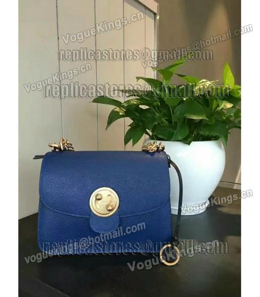 Chloe Lexa Original Blue Leather Chains Bag-4