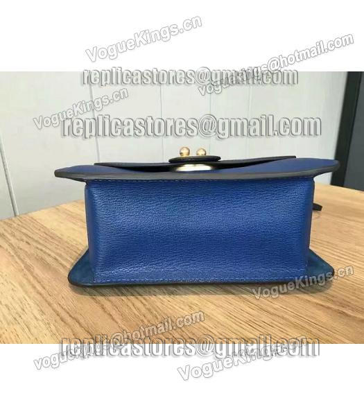 Chloe Lexa Original Blue Leather Chains Bag-6
