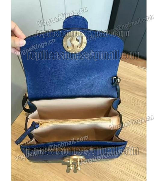 Chloe Lexa Original Blue Leather Chains Bag-7