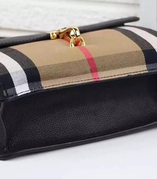 Burberry Canvas With Grainy Leather Shoulder Bag Black-3