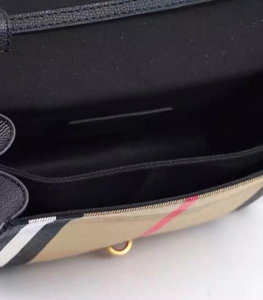 Burberry Canvas With Grainy Leather Shoulder Bag Black-6