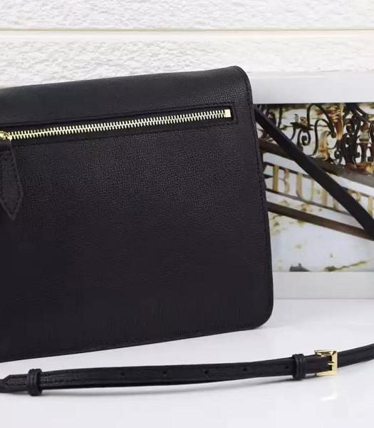 Burberry Canvas With Grainy Leather Shoulder Bag Black-7