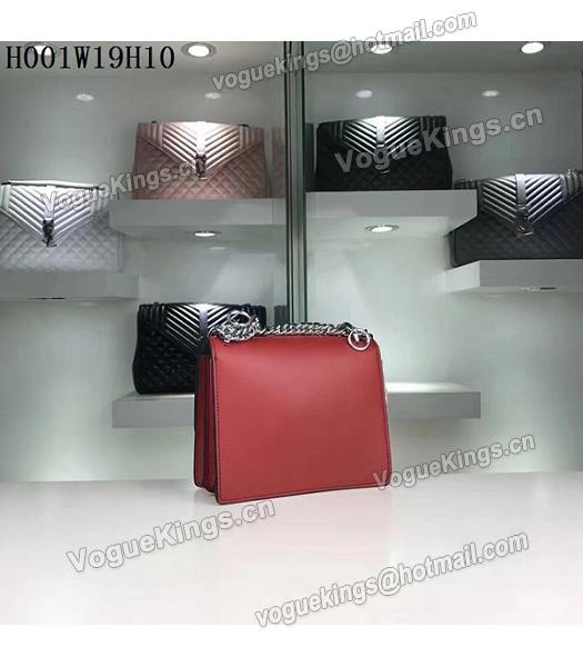 Fendi Latest Red Leather Chains Shoulder Bag-2