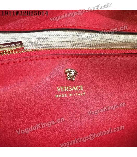 Versace Palazzo Empire Leather Top Handle Bag Red-1
