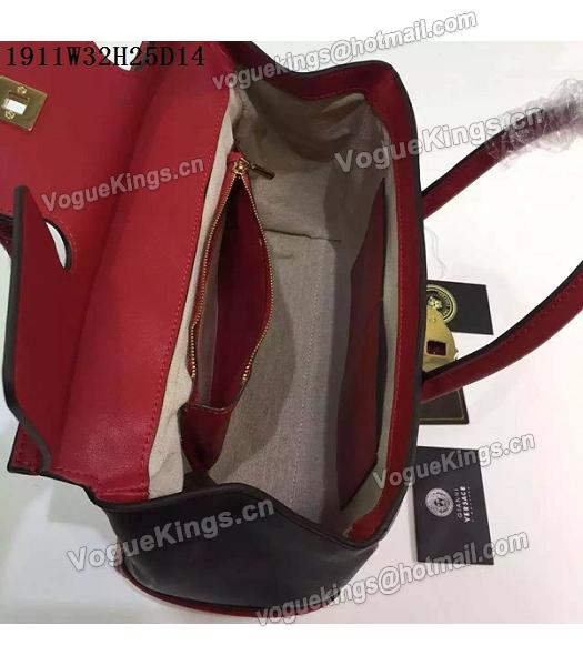 Versace Palazzo Empire Leather Top Handle Bag Red-2