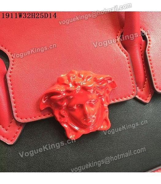 Versace Palazzo Empire Leather Top Handle Bag Red-3