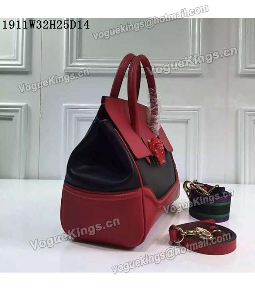 Versace Palazzo Empire Leather Top Handle Bag Red-4