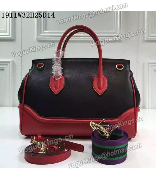 Versace Palazzo Empire Leather Top Handle Bag Red-5