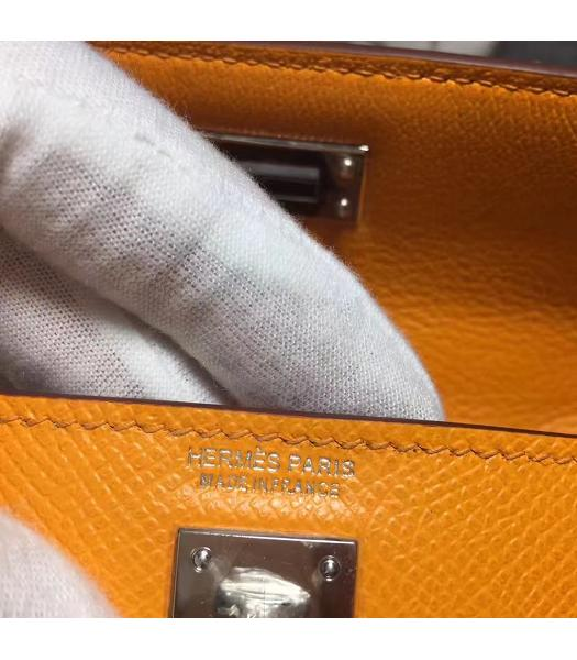 Hermes Kelly 20cm Yellow Original Leather Mini Tote Bag Silver Hardware-1