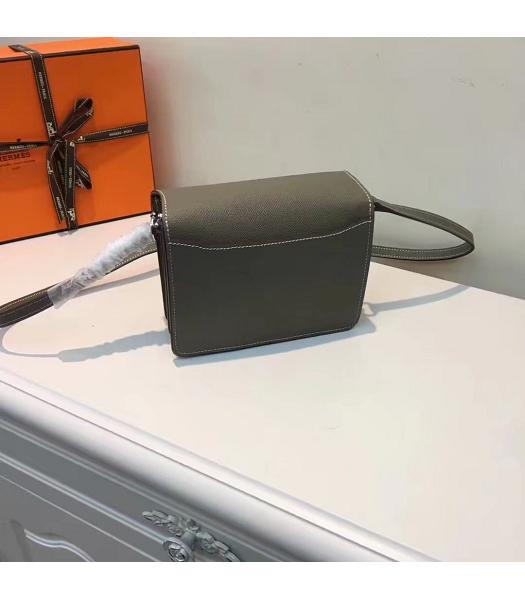 Hermes Roulis Dark Grey Palmprint Leather Mini Shoulder Bag-5