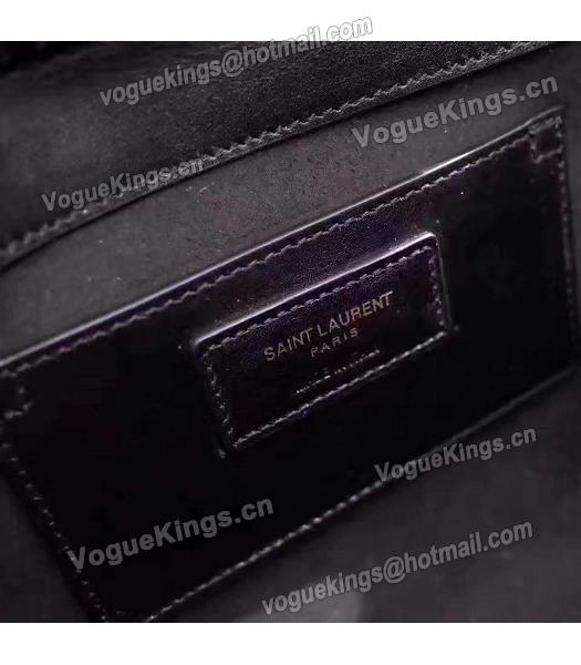 Yves Saint Laurent Black Calfskin With Suede Leather Flap Bag-5