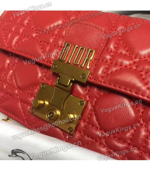 Christian Dior Cannage Red Original Leather 21cm Small Flap Bag-1