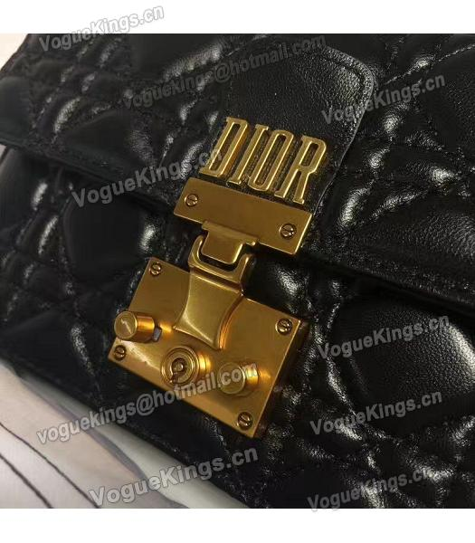 Christian Dior Cannage Black Original Leather 21cm Small Flap Bag-1