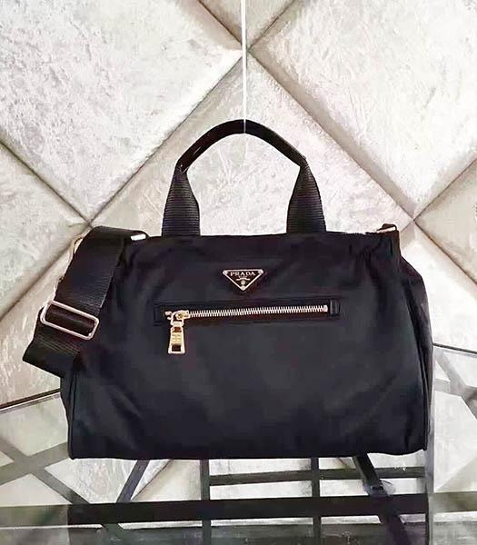 Prada BN1843 Tessuto Nylon Shoulder Bag Black