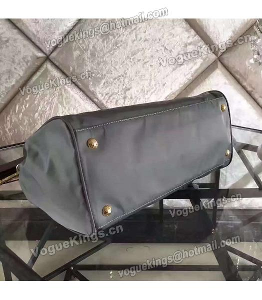 Prada BN1843 Tessuto Nylon Shoulder Bag Grey-3