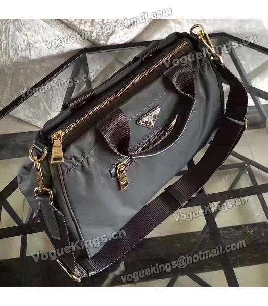 Prada BN1843 Tessuto Nylon Shoulder Bag Grey-4