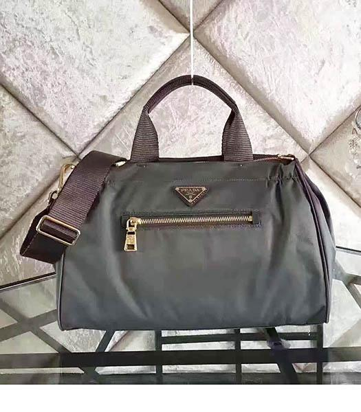 Prada BN1843 Tessuto Nylon Shoulder Bag Grey
