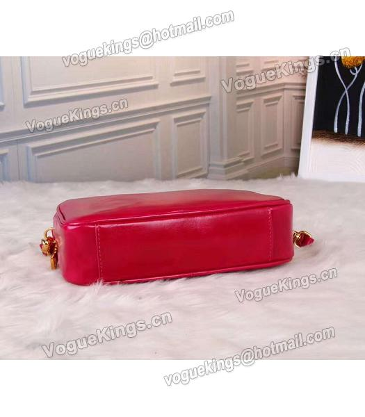 Prada BN1678 Oil Wax Leather Small Shoulder Bag Red-1